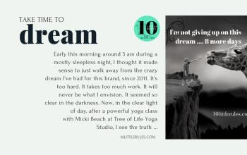take time to dream…