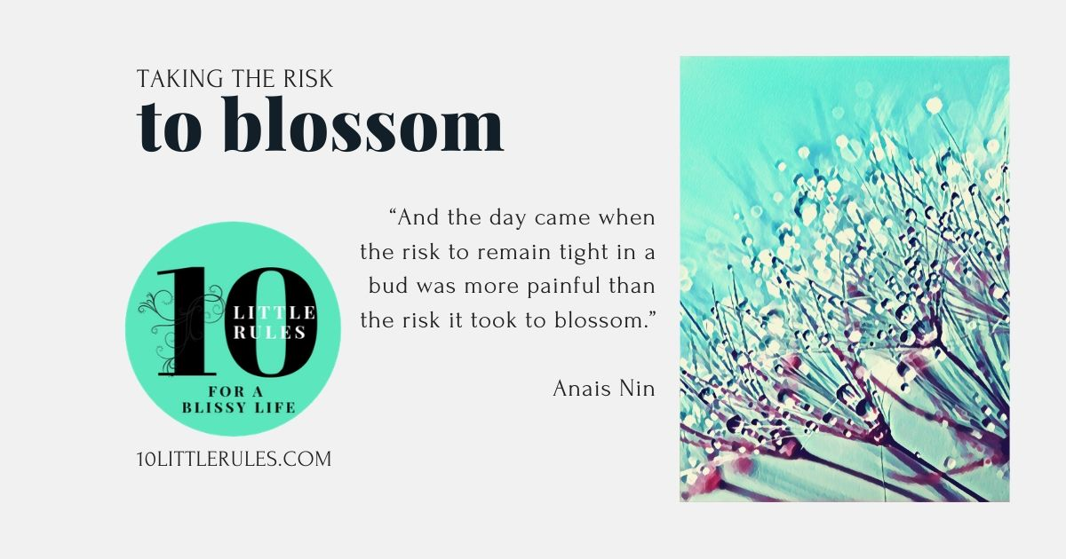 Taking the risk to blossom