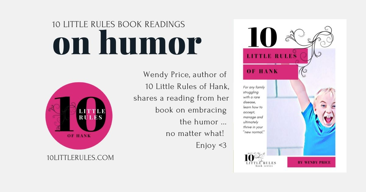 rule #8 – embrace the humor … a book reading