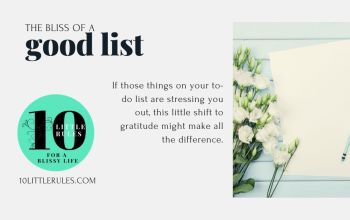 the bliss of a good list