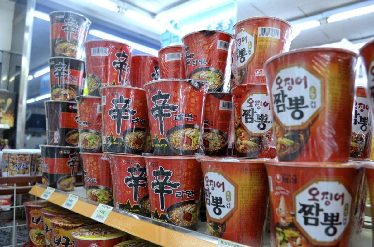 korean convenience stores shin ramyeon