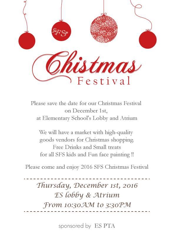 seoul foreign school christmas festival