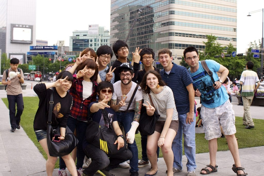 Study Abroad in South Korea people