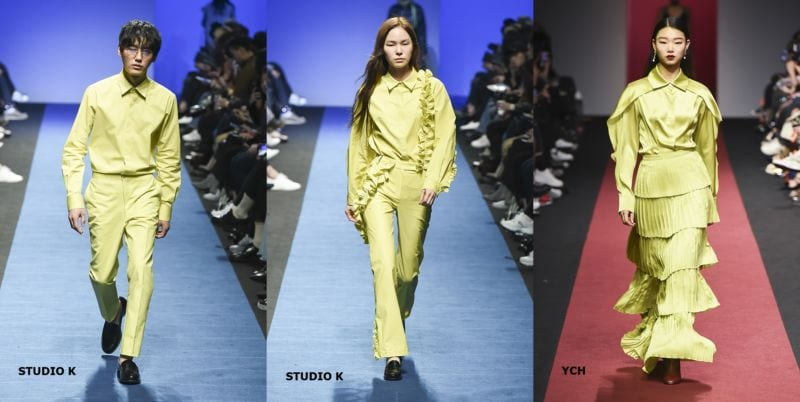 hottest fashion trends from seoul fashion week lime