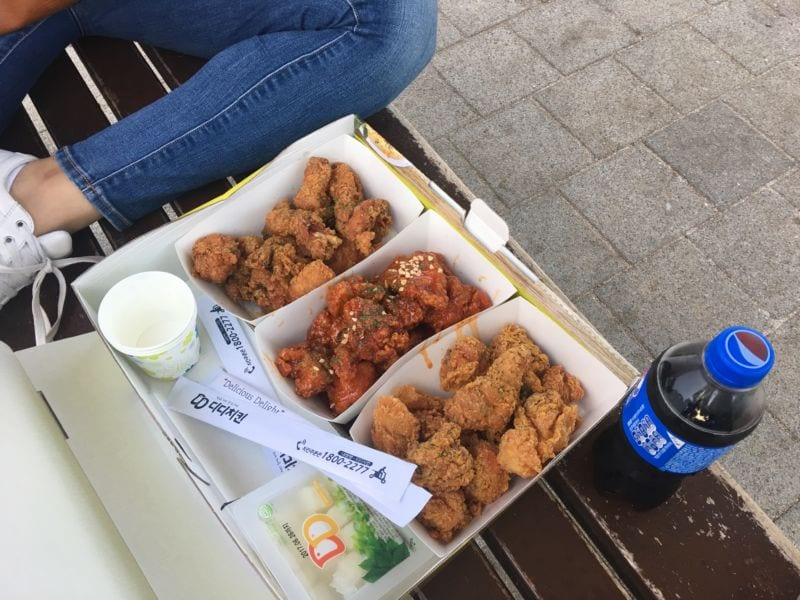 unforgettable day at han river Chicken at Hangang