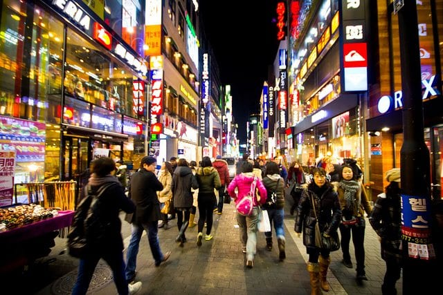 Culture Shock in Korea: Q&A with John Bocskay, seoul street, busy street