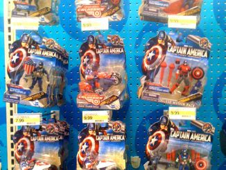 Captain America Comic Series and Deluxe Series on Pegs