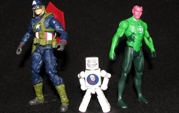 WWII era Captain America and Sinestro