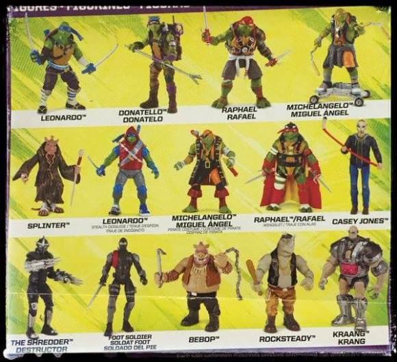 Teenage Mutant Ninja Turtles 2 out of the shadows toys