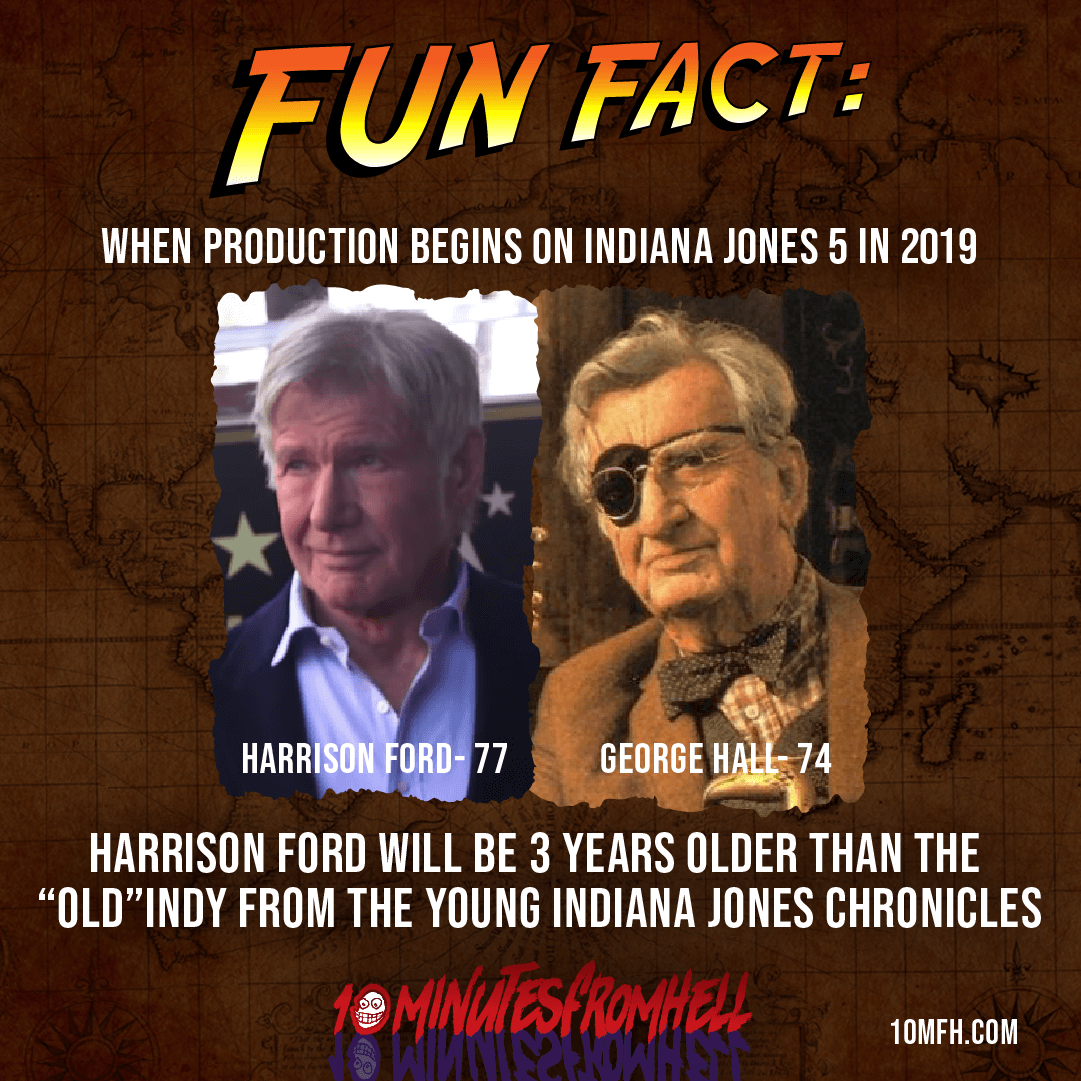 Old Indy Indiana Jones Harrison Ford George Hall