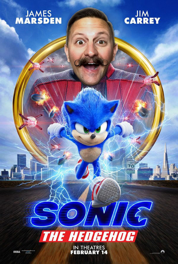 Tim Tracker Sonic Movie Poster