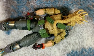 Lanard Toys Alien Facehugger and Hasbro G.I. Joe Classified Duke