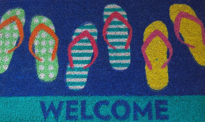 Christmas Welcome mats for entrances