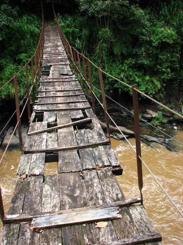 Scariest Rope Bridges In The World: Kotmale Footbridge, Sri Lanka