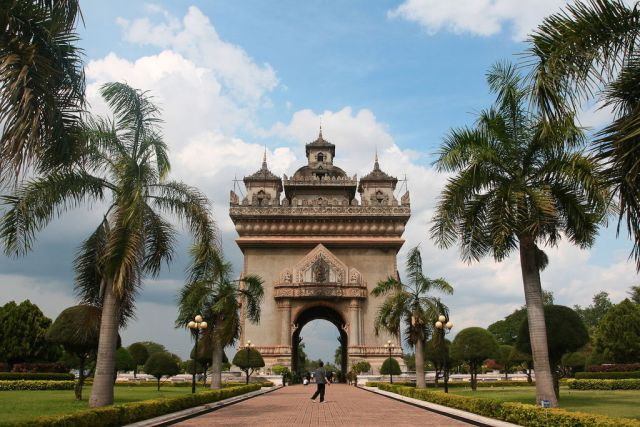 Most Famous Man-Made Arches: Patuxai, Vientiane, Laos
