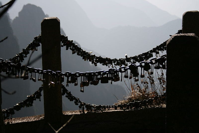 Awesome Love Locks Locations: Mount Huang, China