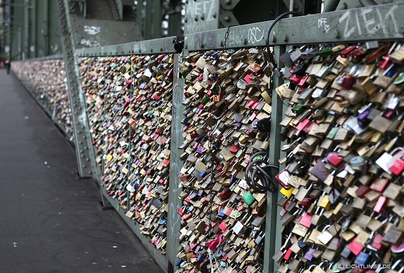 Awesome Love Locks Locations: Hohenzollern Bridge, Cologne