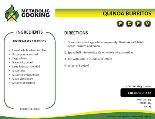 quinoa burrito