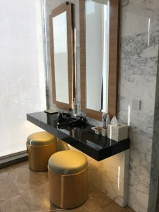 Changing room vanity area