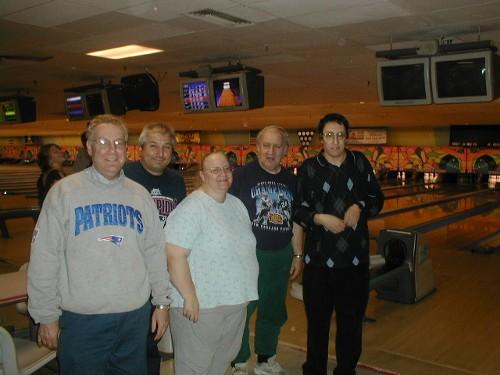 (L to R) Patrick Padula, Carl Benson, Helen Sprissler, Ted Sprissler, me