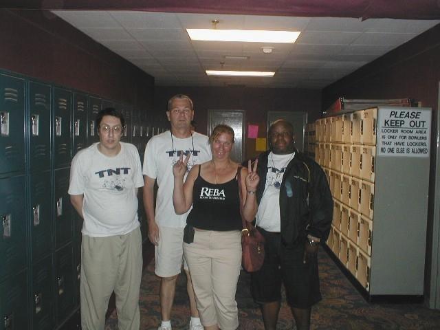 TNT, Summer 2009:  (L to R):  Me, Bill Macomber, Bonnie MacDonald, Rob Dickens