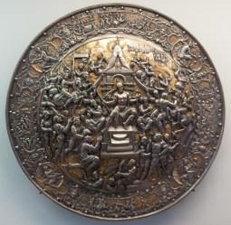 A shield on display at Ecouen