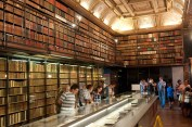 The library at Chantilly contains thousands of historical books and manuscripts.