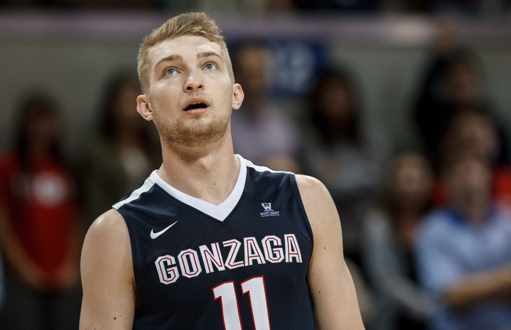 13 February 2016 - Gonzaga Bulldogs forward Domantas Sabonis (#11) during the college basketball game between the SMU Mustangs and the Gonzaga Bulldogs at Moody Coliseum in Dallas, Texas. SMU won the game 69-60. (Photo by Matthew Visinsky/Icon Sportswire)
