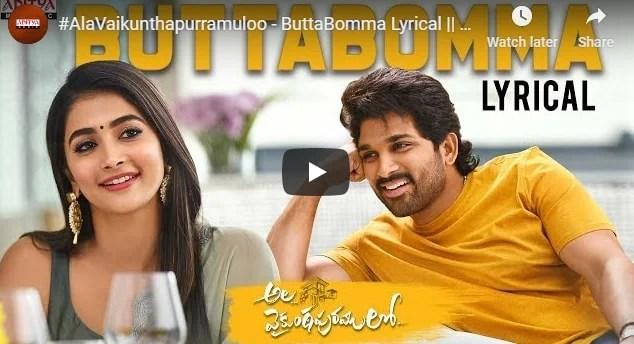 Butta Bomma Song Lyrics