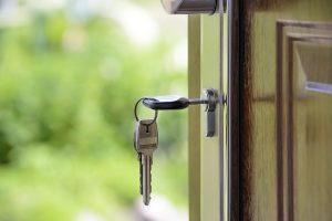 A door and a key.