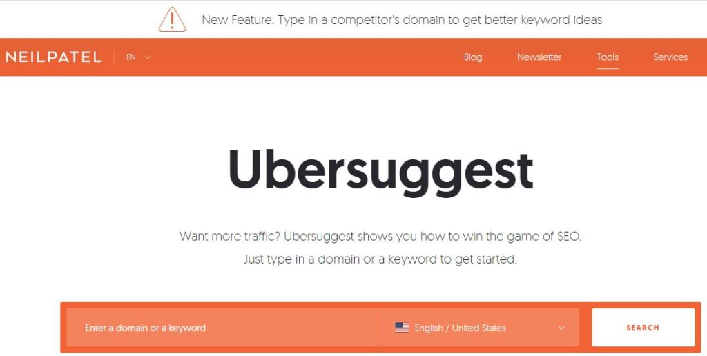 Competitor Analysis Ubersuggest