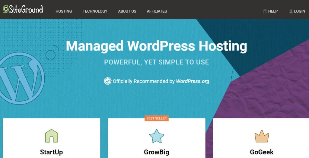 Siteground managed WordPress hosting for mature blogs