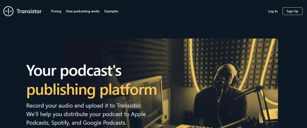 transistor podcast hosting site, the 3rd best