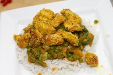 Gele curry met groene groente 39