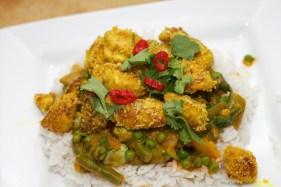 Gele curry met groene groente 40