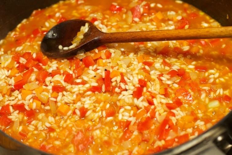 Risotto met Chipolata en veel groente 15