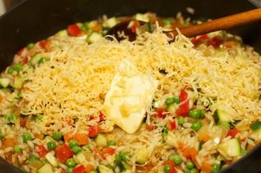 Risotto met Chipolata en veel groente 24