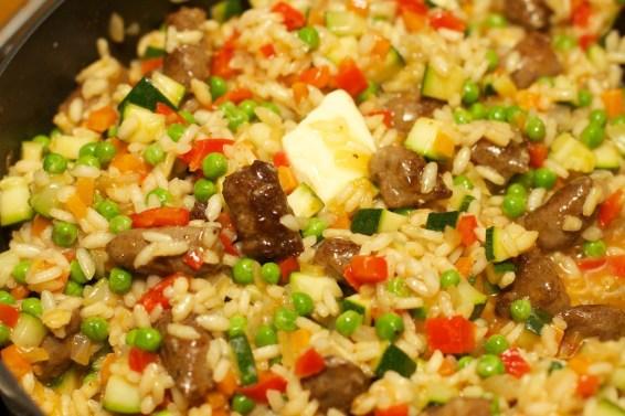 Risotto met Chipolata en veel groente 26