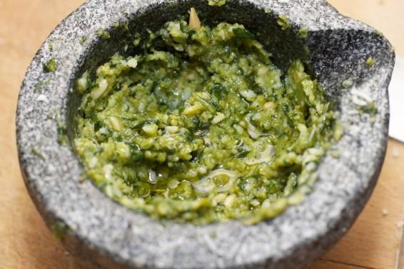 Tagliatelle Peperoncino met spruitjes, witte asperges en biefstuk 7