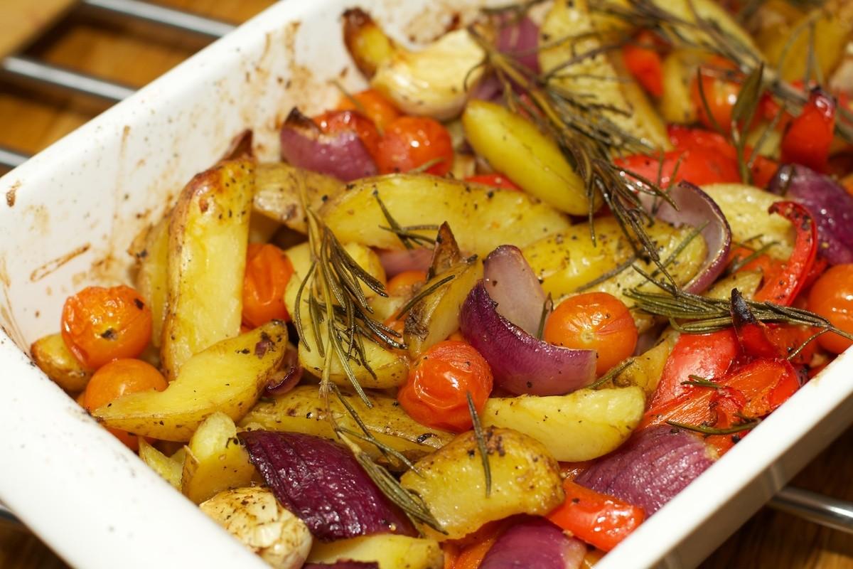 groenteschotel oven met aardappelen