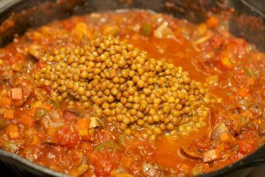 Pasta met vegetarische Ragu 44