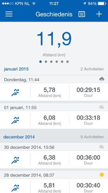 Runtastic Pro app 5