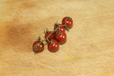 Saltimbocca en een salade met chocotoms 24