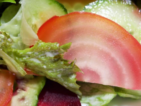Gekleurde bietensalade