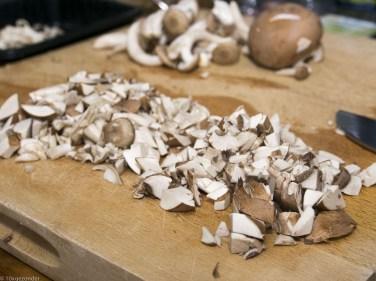 Romige pasta met prei, champignons en spekjes (7 van 40)