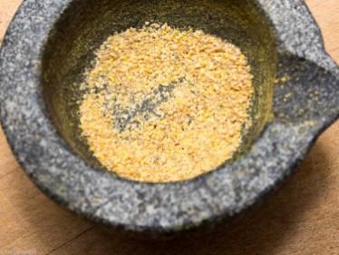 Toast met pompoen crème en geroosterde pompoenpitten-12