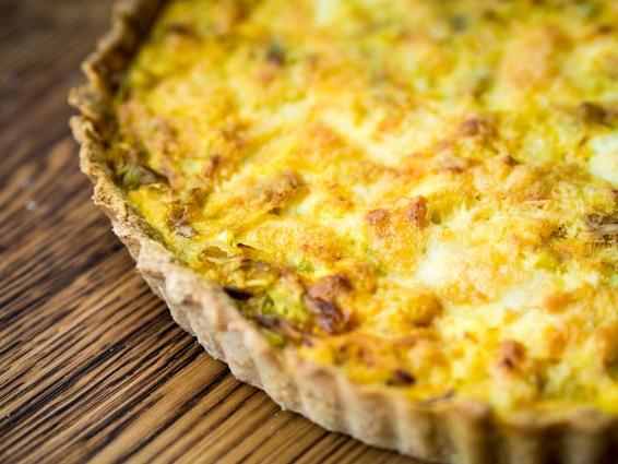 Recept hartige taart- Preitaart met makreel-14