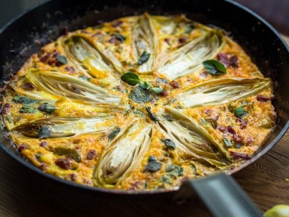 Spaanse tortilla met chorizo en witlof-27