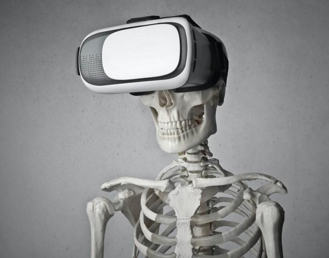 Squelette portant des Google glasses et symbolisant Google m'a tuer