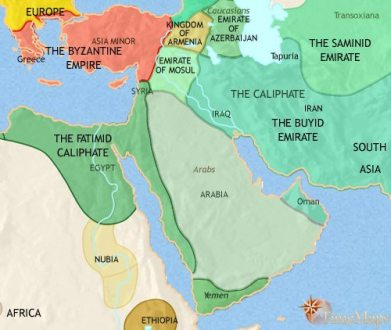 Middle East History 1914 CE Map of Middle East at 979CE